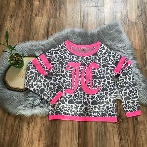 Juicy Couture Pink Cheetah Print Sweater